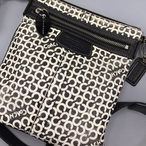 Coach Bags - Coach Swingpack Small C black and white Preowned